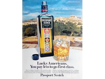 PASSPORT SCOTCH, TIDNINGSANNONS Retro 1978