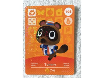 Animal Crossing amiibo kort Series 2 108 Tommy