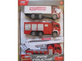 Team Power Fire Resque - Brandbilar i 3-pack 15cm - Uddevalla - Team Power Fire Resque - Brandbilar i 3-pack 15cm - Uddevalla