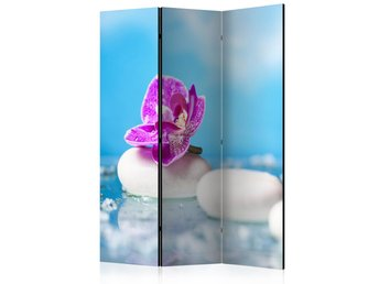 Rumsavdelare - Pink Orchid and white Zen Stones Room Divider