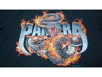 T-Shirt. Svart. Rock. Pantera. XL