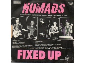 "The Nomads & Fixed Up 7"" EP Live Paris 1984"