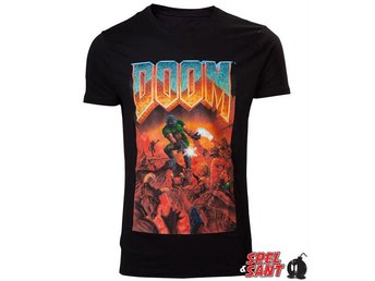 Doom Classic Boxart T-shirt Svart (Medium)