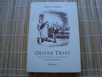 OLIVER TWIST, CHARLES DICKENS, Originalupplagans illustrationer, 1956, Superfin