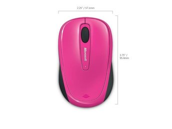 Microsoft Wireless Mobile Mouse 3500 Mac/Win USB, Mag./Pink
