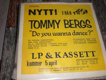 "TOMMY BERGS "" MIDNIGHT "" VG+++"