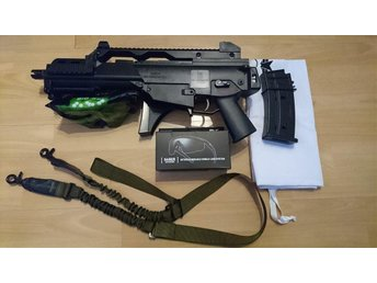 Billigt Airsoft Start-kit: Heckler & Koch - G36C, Saber skyddsglasögon, m.m