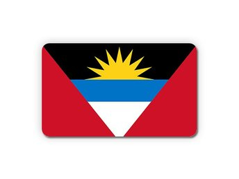 Antigua and Barbuda Flagga Magnet Kylskåpsmagnet