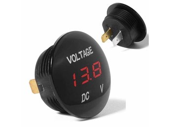Voltmeter röd LED display 4,5 - 30V =