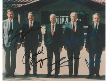 GEORGE BUSH  RONALD REAGAN JIMMY CARTER  GERALD FORD  RICHARD NIXON  PREPRINT