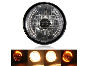 7inch H4 35W Motorcycle Halogen Headlight With LED Turn S...