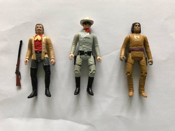 3 st Lone Ranger Figurer ! 1979-1980 LR TV INC.