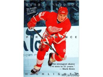 Ultra 1994-95 Sergei Fedorov Highlights 8 Sergei Fedorov Detroit Red Wings
