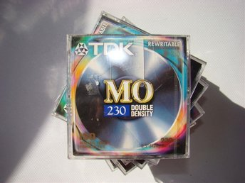 "8 st TDK Rewritable 230Mb Magneto-Optical 3.5"" Disk MO-230 Double Density NEW"