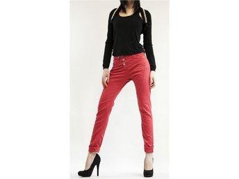 PLEASE Jeans P78 ACV9M07 Woman 3 buttons Boyfriend Baggy Cardinal Red L - Faenza - PLEASE Jeans P78 ACV9M07 Woman 3 buttons Boyfriend Baggy Cardinal Red L - Faenza
