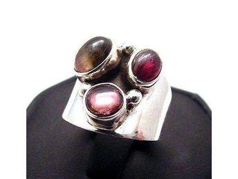 17,4 Äkta SILVER TURMALIN 925 silverring ring stor rosa 8g - Stockholm - 17,4 Äkta SILVER TURMALIN 925 silverring ring stor rosa 8g - Stockholm