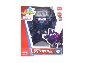 Super Wings Season 2 - Transforming Ace Action Figur ! Mästerflygarna