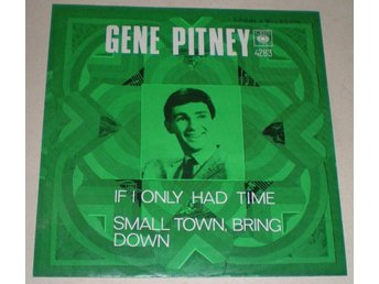 Gene Pitney SINGELOMSLAG If i only had time 1969