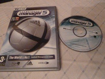 CHAMPIONSHIP MANAGER 5, DATORSPEL, DATASPEL, PC, CD, FOOTBALL MANAGEMENT GAME