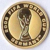 4dollars 25 000ex. FIFA World Cup Germany 2006 Australien Guld 1,24g 999 Proof C
