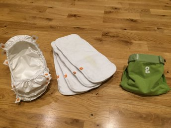 gDiapers tygblöja S (3 pouch, 4 inlägg/gCloth)
