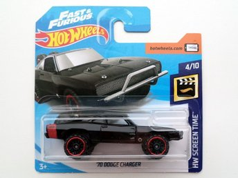 NYHET Hot Wheels - 1970 Dodge Charger - Fast & Furious