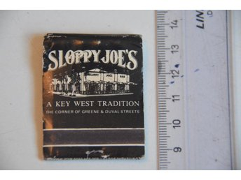 SLOPPY JOE'S KEY WEST FLORIDA HEMINGWAYS FAVORIT,TÄNDSTICKOR
