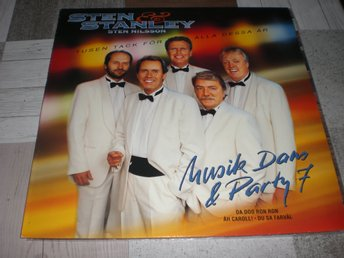 "STEN & STANLEY "" MUSIK DANS & PARTY 7 "" LP KANONSKICK"