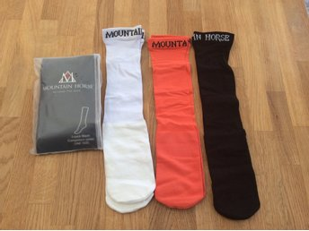 "Mountain Horse 3-pack långa strumpor ""competition socks"" one size, Nya!!"