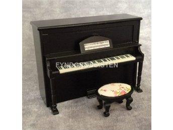 Piano med Stol i skala 1:12. Dockskåp Dockhus Dockskåpsmöbler - Wuzhou Guangxi - Piano med Stol i skala 1:12. Dockskåp Dockhus Dockskåpsmöbler - Wuzhou Guangxi