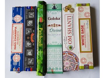 Rökelsepinnar, 6 paket med olika dofter - Borås - Rökelsepinnar, 6 paket med olika dofter - Borås