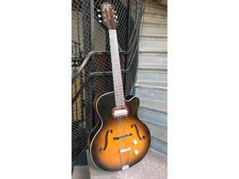 1957 Silvertone H-61 Archtop Gitarr Guitar P-13 Pickup Chicago Harmony USA Made