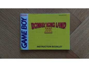 Gameboy: Manual Instruktionsbok Donkey Kong Land III 3 (SCN-1)
