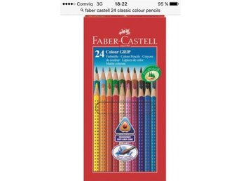 Faber castell. 24 colour grip. Nytt