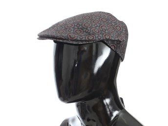 Dolce & Gabbana - Gray Baroque Cotton Newsboy Hat