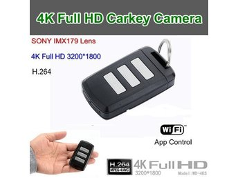 4K Carkey Camera, Video 3200 * 1800, H.264, Sony HD-objektiv, WIFI / App Cont