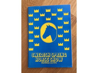 Program Swedish Spring Horse Show Västerås 1975