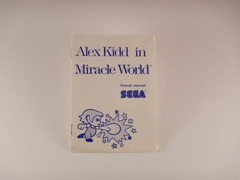 Sega Master System  --  Svensk folder Alex Kidd in Miracle World  --  PAL