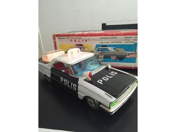 ICHIKO japan Ford Galaxy Police Vintage Friction Battery Tin Toy 60s