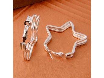 Fashion 925 Silver Plating New Heart Hoop Dangle Earrings Studs - Hörby - Fashion 925 Silver Plating New Heart Hoop Dangle Earrings Studs - Hörby