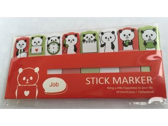 Stick Marker Mini post it Kawaii Pandor Panda