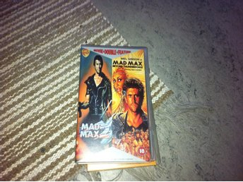 mad max (vhs movie double feature ej svensk text)
