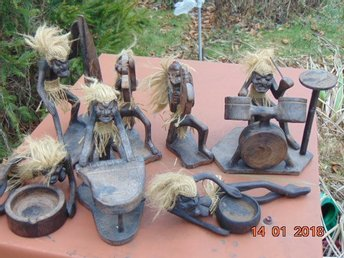 collection of Old Sculptures from Mali music band.