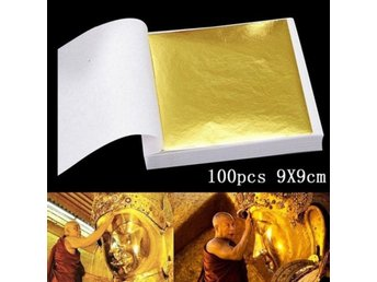 100 Pages New Gold Leaf Art Design G...