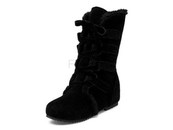 Dam Boots Warm Fur Winter Half Shoes Footwear Black 40