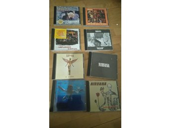 8cd Nirvana:Bleach,Nevermind,In utero,Incesticide,Singles,Unplugged,S/t, From...