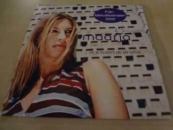 Maarja He is always on my mind Melodifestivalen 2003 Singel CD