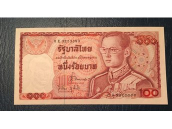 Thailand 100 Baht type from the 1980s. Rama IX. Kval. 0, UNC