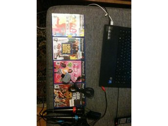 singstar mikrofoner playstation 2 ,3 plus spel plus eye toy