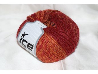Virginia Wool, röd/orange, 50 g